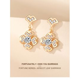 FORTUNE SERIES-- APRICOT LEAF EARRINGS