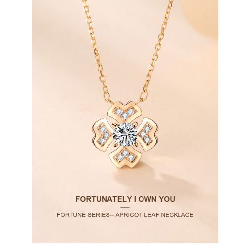 FORTUNE SERIES-- APRICOT LEAF NECKLACE