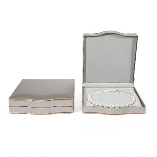 Jewelry Box for Pearl Necklace (Silver Grey)