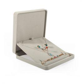 Suede Jewelry Box (Grey)