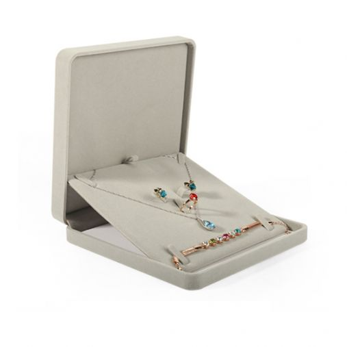 Suede Jewelry Box (Grey)