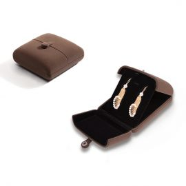 Large Size 1 Layer Suede Jewelry Box (Brown)