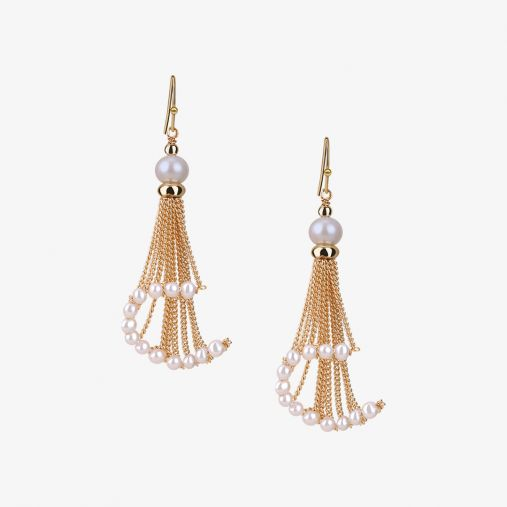 Pearl Tassel Drop Earrings