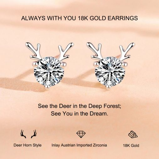 ALWAYS WITH YOU 18K GOLD EARRING