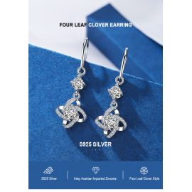 LUCKY FOUR LEAF CLOVER EARRING