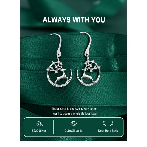 ALWAYS WITH YOU DEER FAIRY EARRING