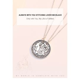 ALWAYS WITH YOU STITCHING LOVER NECKLACE