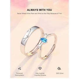 ALWAYS WITH YOU DEER SHAPE LOVER RINGS