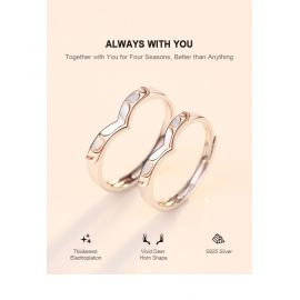 ALWAYS WITH YOU DEER HORN LOVER RINGS