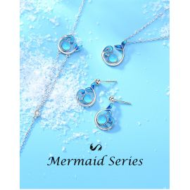 MERMAID AND SEA EARRING
