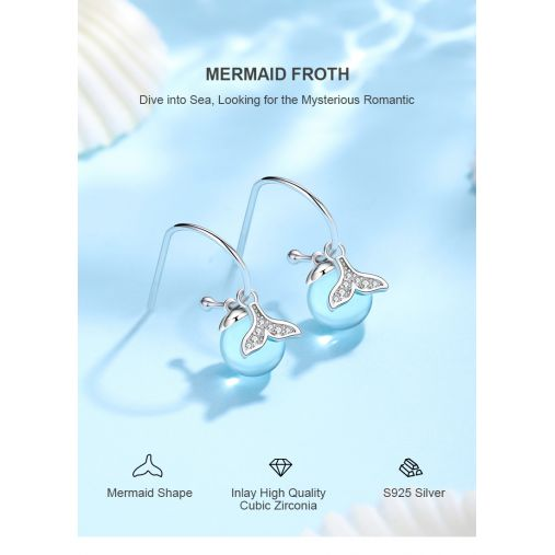 MERMAID FROTH EARRING