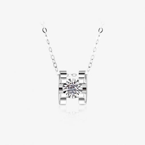 18K Ngau Tau Platinum Necklace