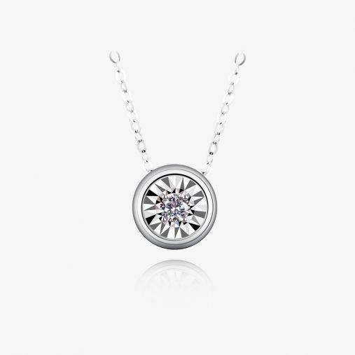 18K Bubble Platinum Necklace