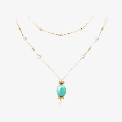 Jade Sweater Necklace